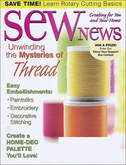 Sew News Cover - 5/1/2006