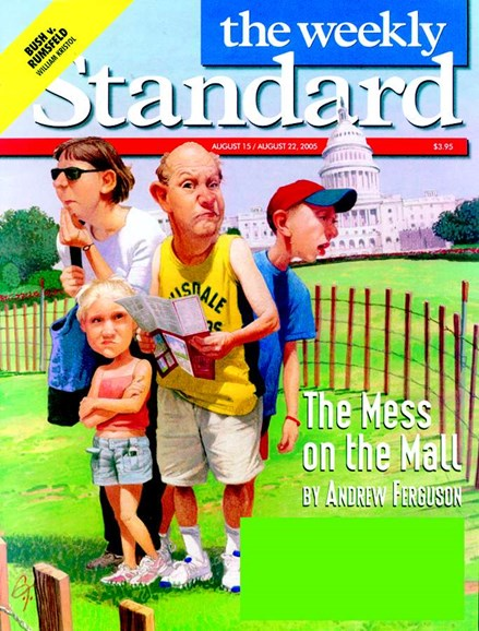 Washington Examiner Cover - 8/7/2005