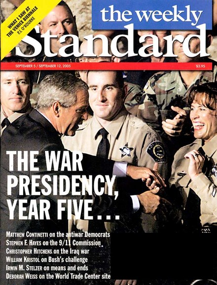 Washington Examiner Cover - 9/1/2005