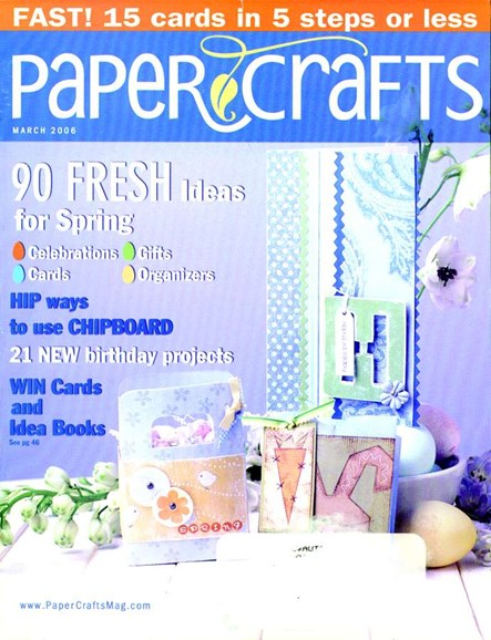Paper Crafts Cover - 3/1/2006