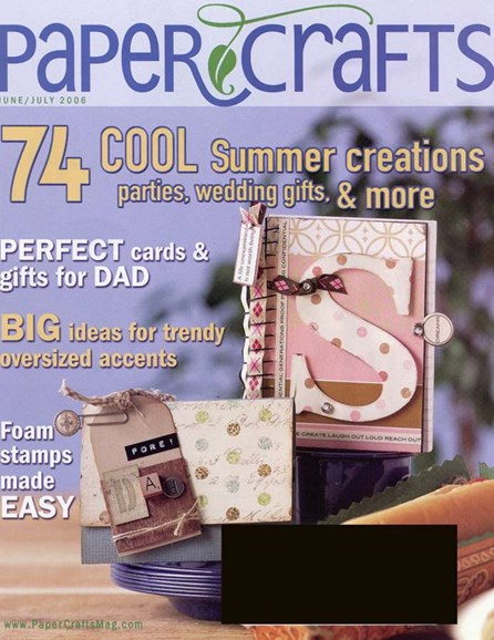 Paper Crafts Cover - 6/1/2006