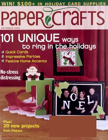 Paper Crafts Cover - 11/1/2006