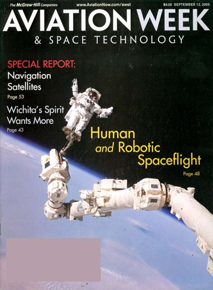 Aviation Week & Space Technology Cover - 9/7/2005