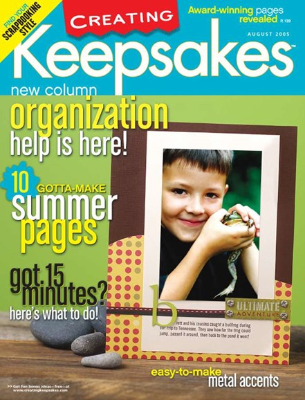 Creating Keepsakes Cover - 8/1/2005