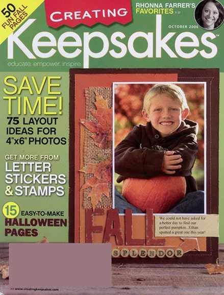 Creating Keepsakes Cover - 10/1/2006