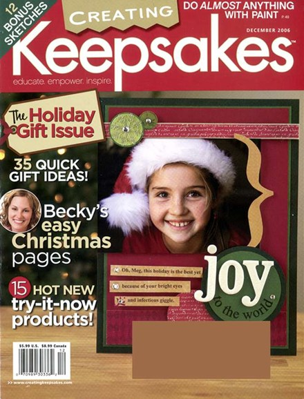 Creating Keepsakes Cover - 12/1/2006
