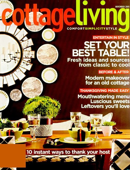 Cottage Living Cover - 11/1/2005