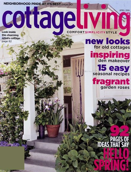 Cottage Living Cover - 4/1/2006