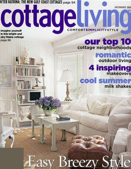 Cottage Living Cover - 8/1/2006