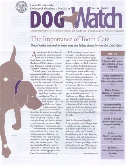 Dogwatch Cover - 4/1/2006