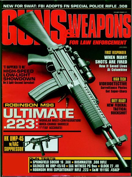 Guns & Weapons For Law Enforcement Cover - 1/1/2003