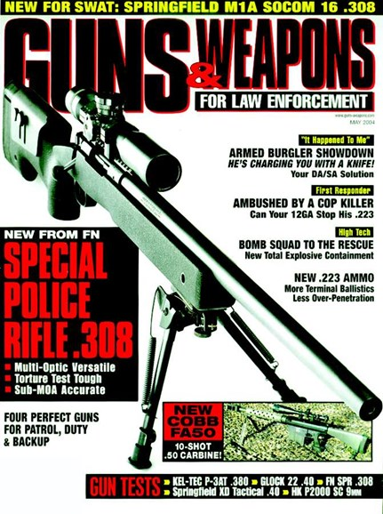 Guns & Weapons For Law Enforcement Cover - 5/1/2004