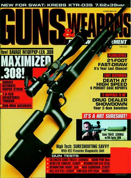 Guns & Weapons For Law Enforcement Cover - 2/1/2005