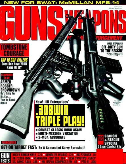 Guns & Weapons For Law Enforcement Cover - 9/1/2005