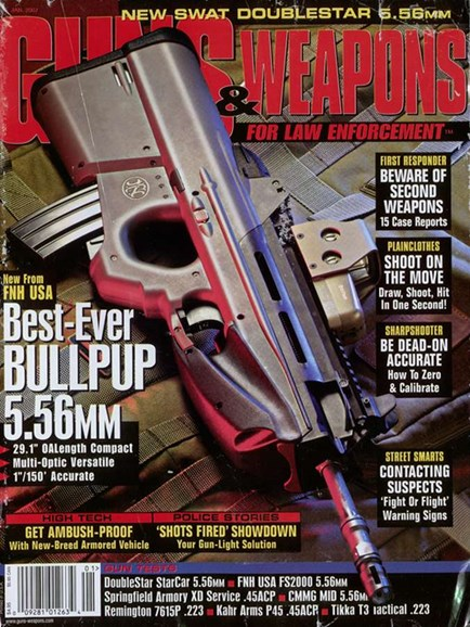 Guns & Weapons For Law Enforcement Cover - 1/1/2007
