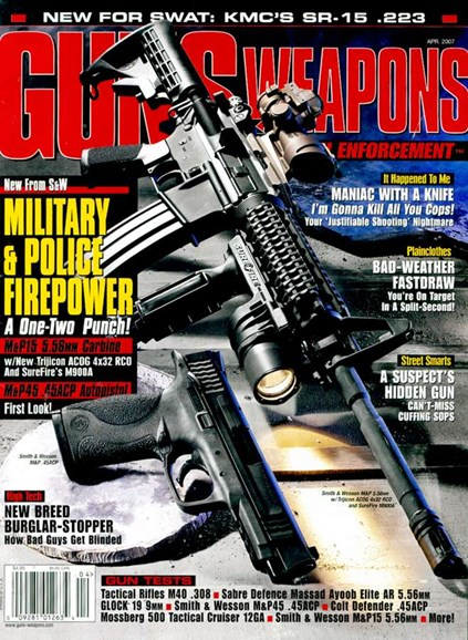 Guns & Weapons For Law Enforcement Cover - 4/1/2007