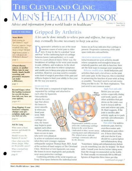 Men's Health Advisor Cover - 6/1/2002