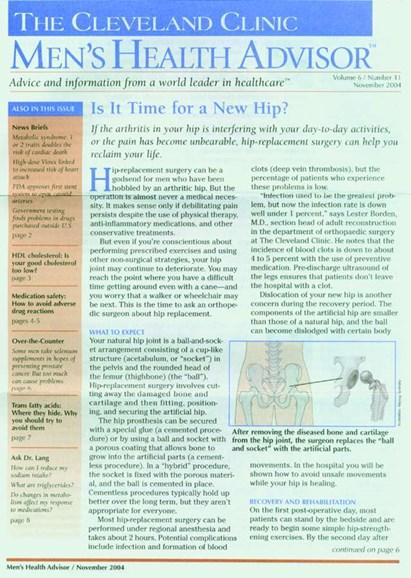 Men's Health Advisor Cover - 11/1/2004