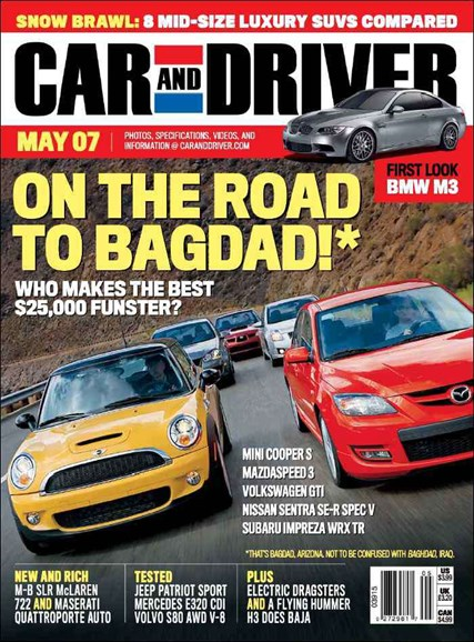 Car And Driver Cover - 5/1/2007