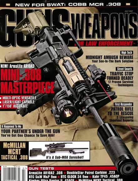 Guns & Weapons For Law Enforcement Cover - 7/1/2007