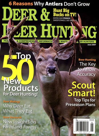 Deer & Deer Hunting Cover - 6/1/2007