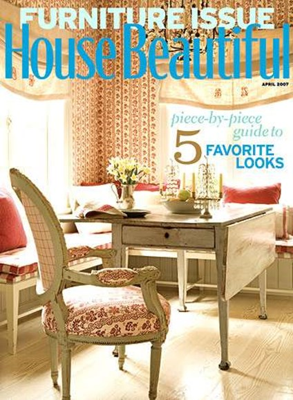 House Beautiful Cover - 4/1/2007