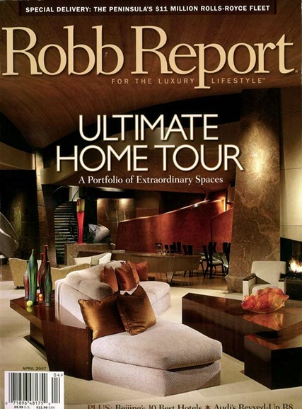 Robb Report Cover - 4/1/2007