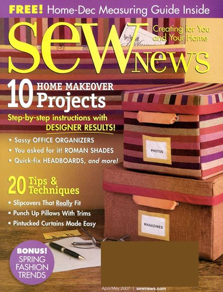 Sew News Cover - 5/1/2007
