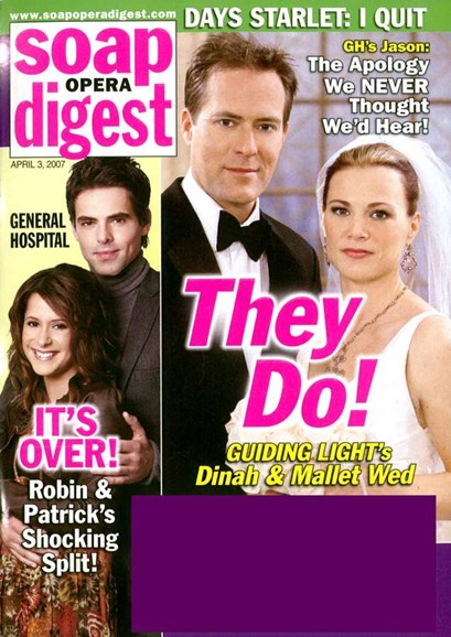 Soap Opera Digest Cover - 4/1/2007