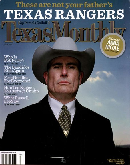 Texas Monthly Cover - 4/1/2007