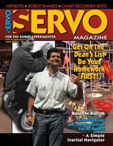 Servo Magazine Cover - 4/1/2007