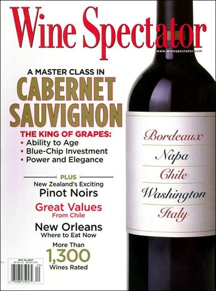 Wine Spectator Cover - 5/1/2007
