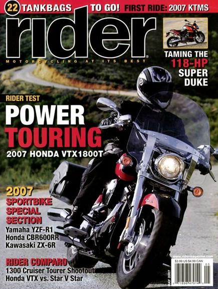 Rider Cover - 5/1/2007