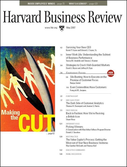 Harvard Business Review Cover - 5/1/2007