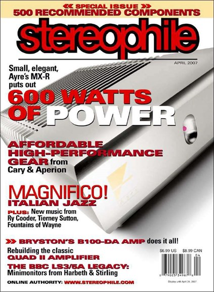 Stereophile Cover - 4/1/2007