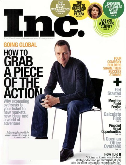 Inc. Magazine Cover - 4/1/2007