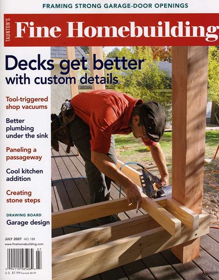 Fine Homebuilding Cover - 7/1/2007