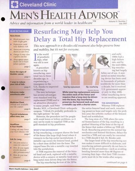 Men's Health Advisor Cover - 7/1/2007