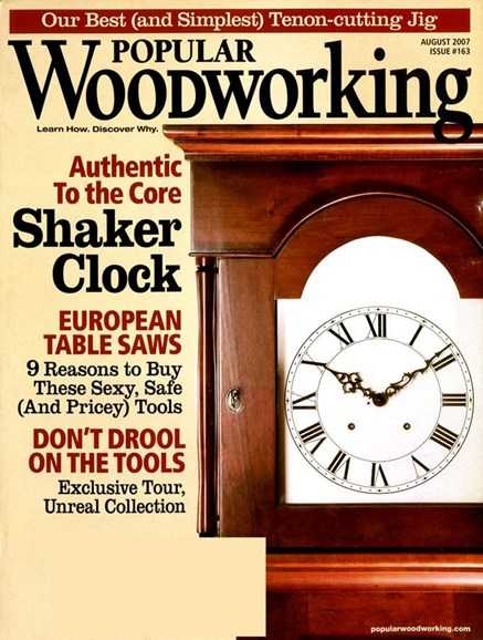 Popular Woodworking Cover - 8/1/2007