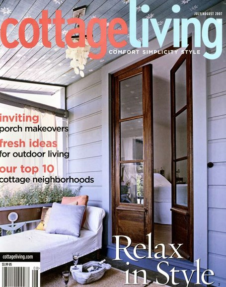 Cottage Living Cover - 8/1/2007