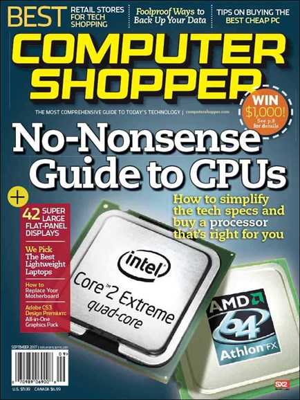 Computer Shopper Cover - 9/1/2007