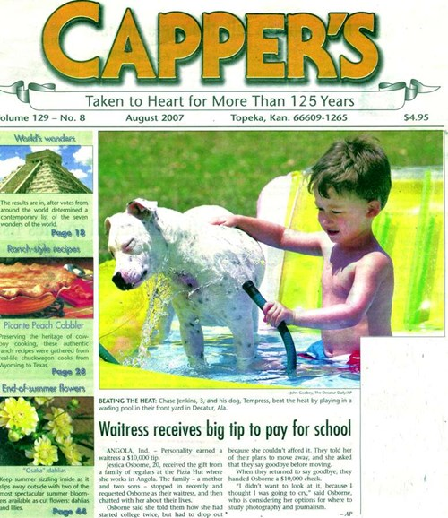 Capper's Cover - 8/1/2007