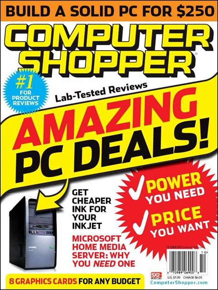 Computer Shopper Cover - 10/1/2007