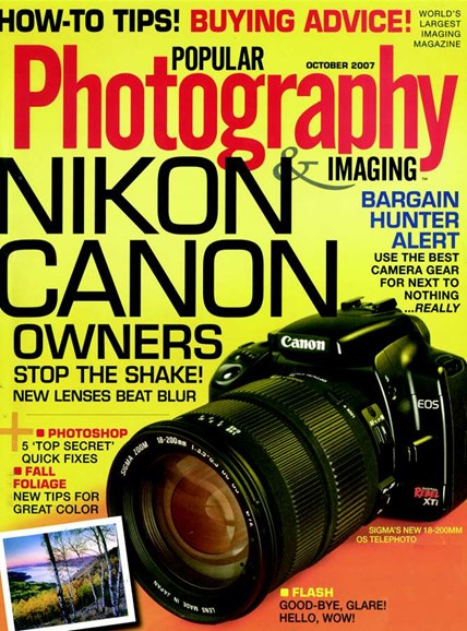 Popular Photography Cover - 10/1/2007