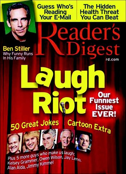 Reader's Digest Cover - 9/1/2007