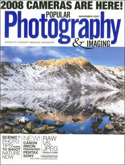 Popular Photography Cover - 11/1/2007