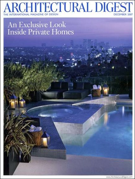 Architectural Digest Cover - 12/1/2007