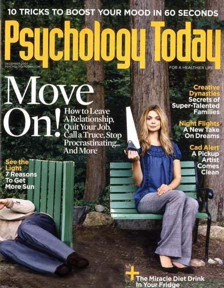 Psychology Today Cover - 12/1/2007