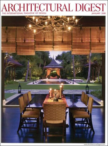 Architectural Digest Cover - 1/1/2008