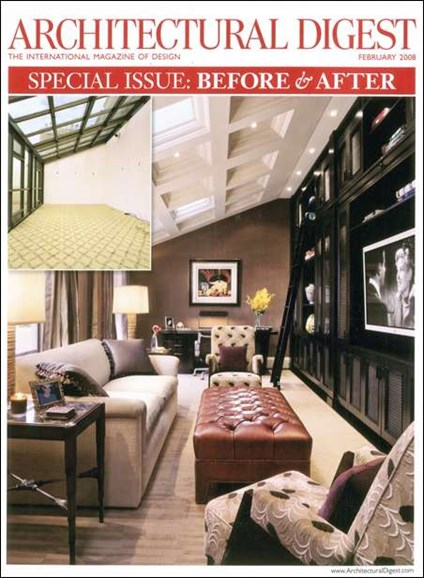 Architectural Digest Cover - 2/1/2008